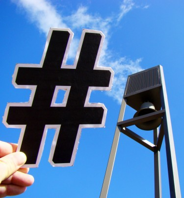 Hashtags provide short cut links to events, people and businesses.